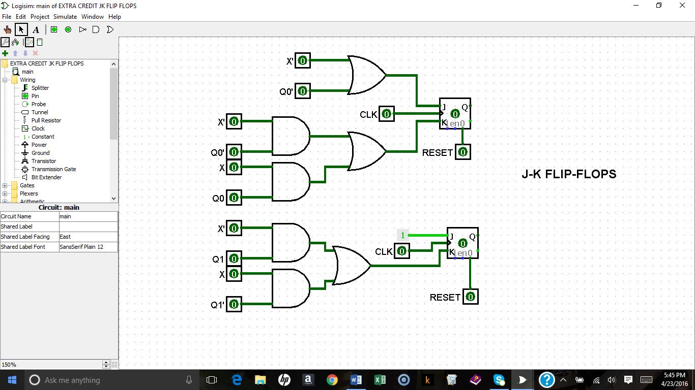 A Synchronous Counter Design Using D Flip-Flops and J-K Flip